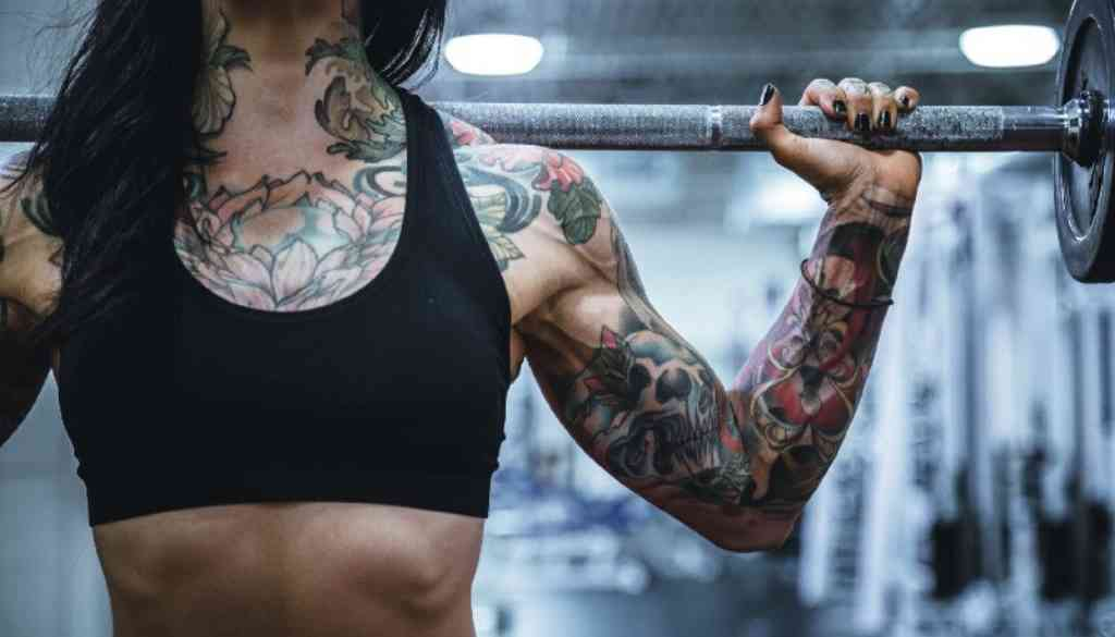 Strong Woman with Muscles